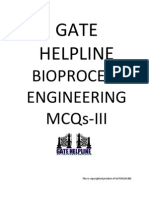 GATE HELPLINE Bioprocess Engineering MCQ III