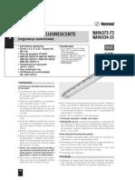 LUMINARIAS FLUORESCENTES  - EMERGÊNCIA