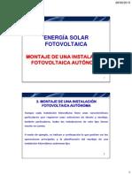 10.2. Montaje de una instalaci+¦n fotovoltaica aut+¦noma - Parte 1