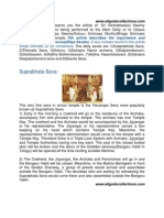 Description of Daily Sevas Performed to Srivaru in Tirumala Temple