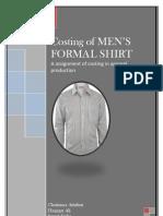 costing of men's formal shirt