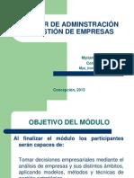 TALLER DE ADM. Y GESTIÓN DE EMP presentación y contenidos