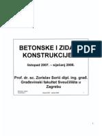 Betonske i Zidane Konstrukcije Slajdovi -Zorislav Sorić _ 2007-2008.Zagreb