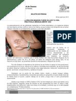 09/04/13 Germán Tenorio Vasconcelos LA AUTOEXPLORACIÓN PUEDE SALVAR TU VIDA, PRACTÍCALA MENSUALMENTE, SSO