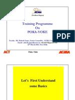 Training Programme_on POKA YOKE_12th March 2010