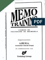 (Doc ITA) a.di.M.a. - Memo Training, Corso Di Tecniche Di Memoria - Hrd Training Group Corso Corsi Manuale Manuali