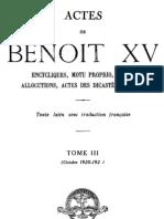 Atti di papa Benedetto XV