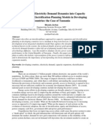 Incorporating Electricity Demand Dynamics into Capacity Expansion and Electrification Planning Models in Developing Countries