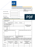 Federal Bank - PERSONAL DATA FORM - Campus Recruitment - 2012-13.pdf
