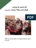 5º A en la entrega de premios del certamen literario Platero de la Roda