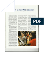 a guide to better flute intonation