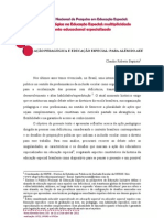 AÇÃO PEDAGÓGICA E EDUCAÇÃO ESPECIAL PARA ALÉM DO AEE
