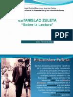 Sobre La Lectura. Estanislao Zuleta. María Fernanda Díaz