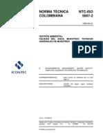 NTC ISO 5667-2