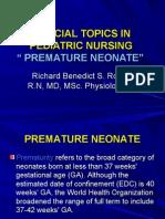 Special Topics in Pediatric Nursing