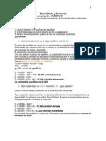 Taller Oferta y Demanda Marzo 2013