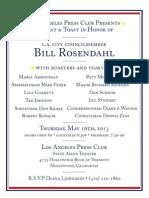 LA Press Club Roast and Toast in Honor of Bill Rosendahl