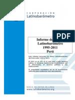 Informe Latinobarometro Peru 1995 2011