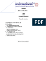 Silabo de Estructuras 2013-1