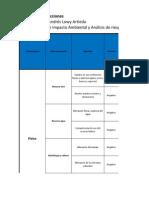 Matriz de interacciones, valoración y magnitud