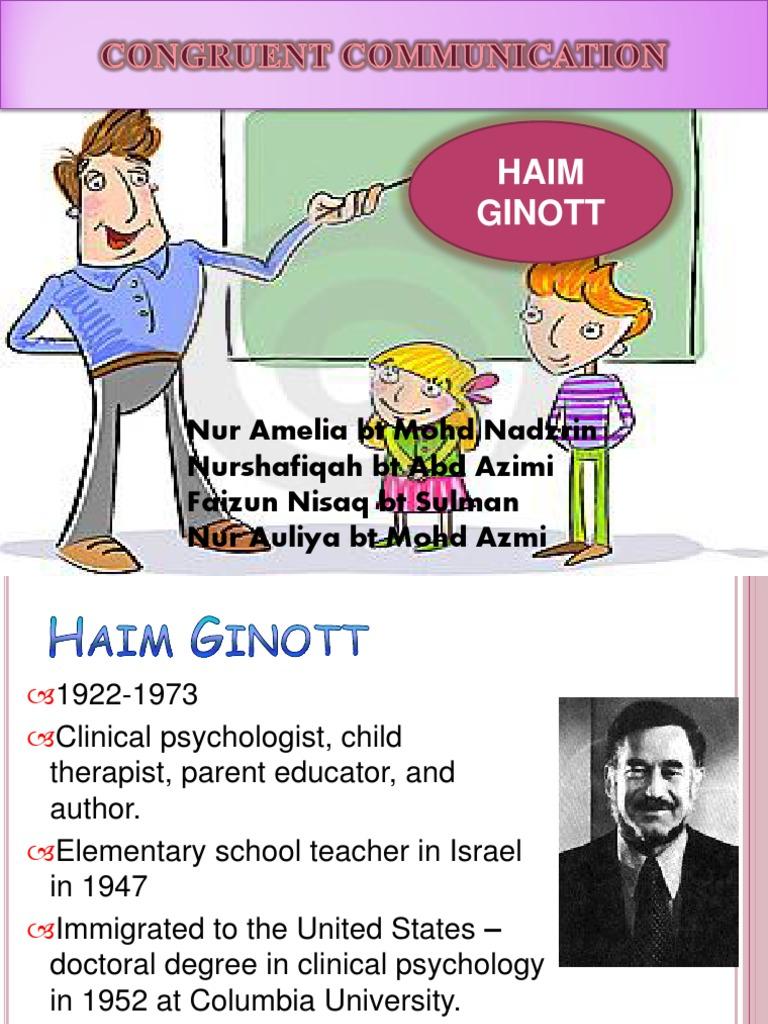 Congruent Communication Theory - Haim Ginott (1)