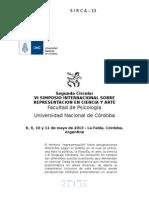 REPRESENTACIÓN EN CIENCIA Y ARTE 2013- Segunda Circular