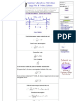 Structural Beam Bending Deflection Stress Equations _ Calculation   Supported on Both Ends With Overhanging Supports of equal Length and Uniform Loading - Engineers Edge