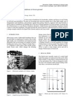 Design of Helical Pier Foundations in Frozen Ground