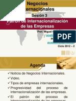 Sesion N 03 El Patron de Internacionalizacion de Las Empresas Delia