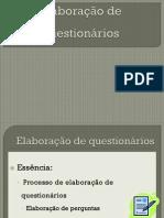 AULA ELABORAÇÃO DE QUESTIONARIOS