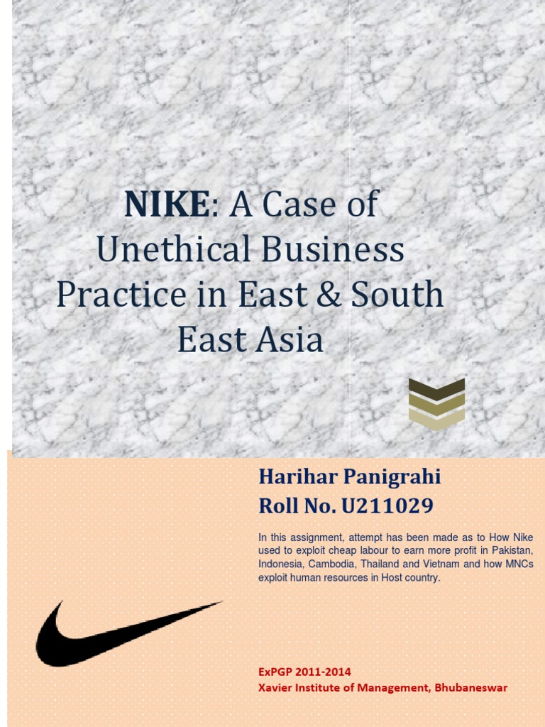 203eb306c Business Ethics - A Case Study on Nike