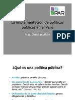 La Implementacion de Politicas Publicas en El Peru