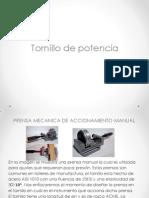 Presentación tornillo de potencia. maquinas I