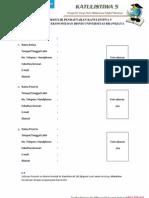 Formulir Pendaftaran Katulistiwa 5