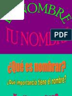 Presentacion El Nombre Tu Nombre 1