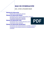 2.- Sistemas de Numeración y Ejercicios