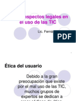 Ética y aspectos legales en el uso de