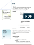 1443593833 Tcs Resume Format For Freshers Free Download on