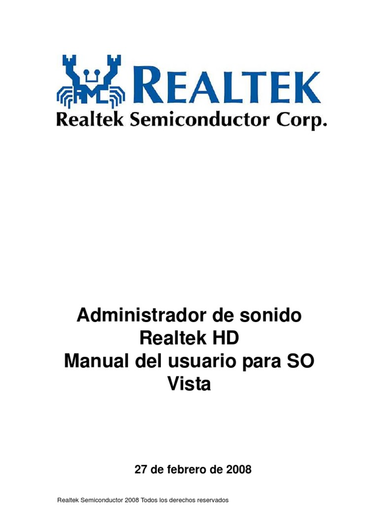 Realtek High Definition Audio Driver Update