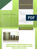 Tugas Presentation Takaran (Kering)