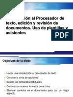 Introduccion y Entorno de Word Edicion y Revision Uso de Plantillas Asistentes