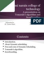 Tomasulo's Algorithm and Scoreboarding