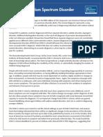 Dsm 5 Autism Spectrum Disorder Fact Sheet