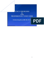 Voice Disorders & Care of Professional Voice