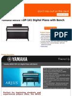 Best Buy Yamaha ARIUS YDP-141 Digital Piano With Bench
