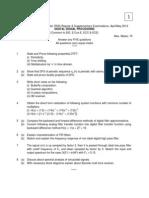 9A04603 Digital Signal Processing