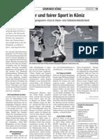 Sauberer und fairer Sport in Köniz