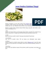 TULISAN 10 12 Jenis Makanan Sumber Kalsium Tinggi