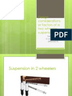 Design Considerations or Factors of a Two Wheeler Suspension