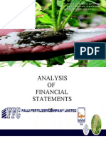 25519731 Analysis of Financial Statements of Fauji Fertilizers